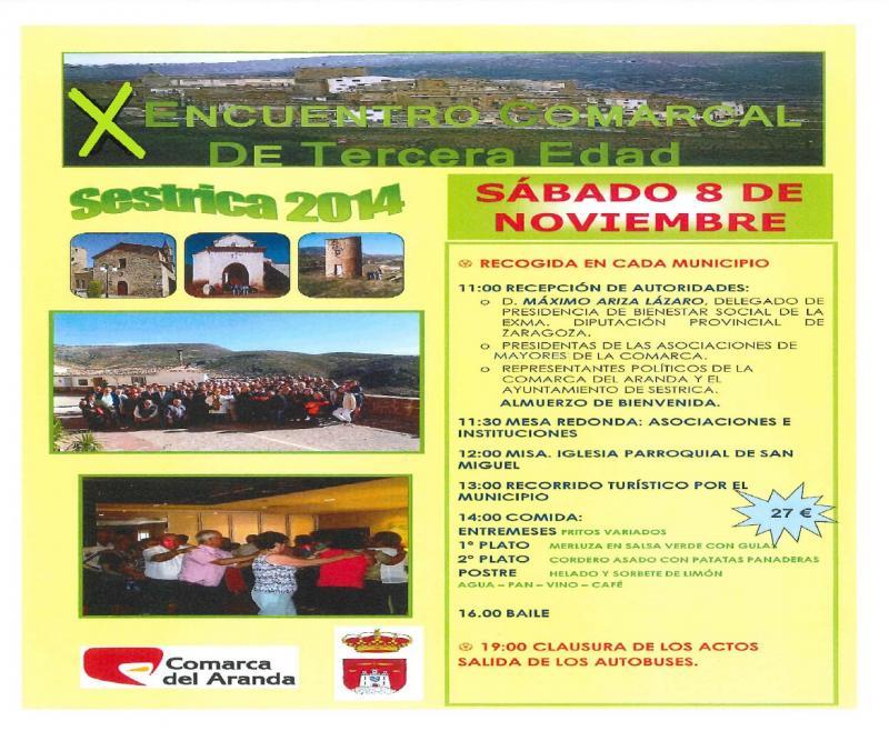 X Encuentro Comarca de 3� Edad 2014. Sestrica