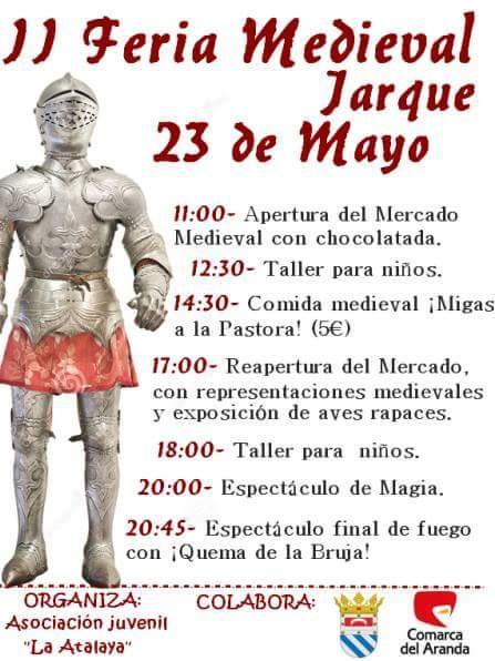 Ma�ana, s�bado 23, feria medieval en Jarque