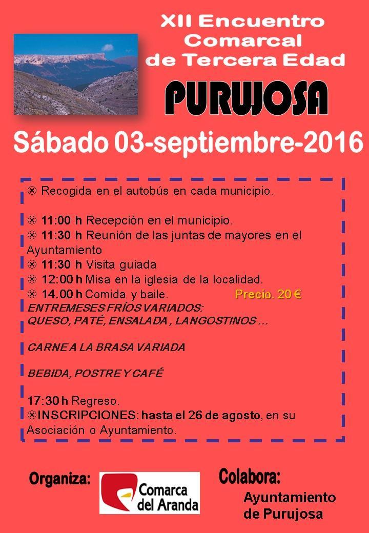 XII Encuentro Comarcal de Personas Mayores en Purujosa