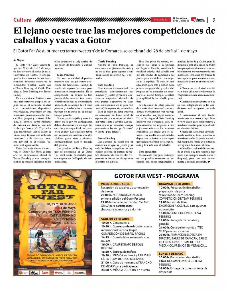 Noticia en el Periódico de la Comarca