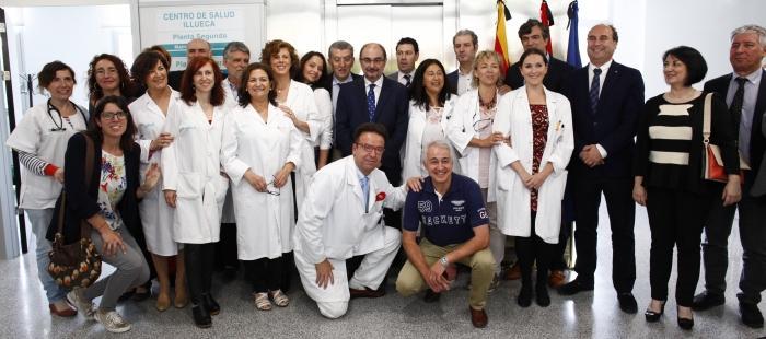 Foto con plantilla del Centro de Salud