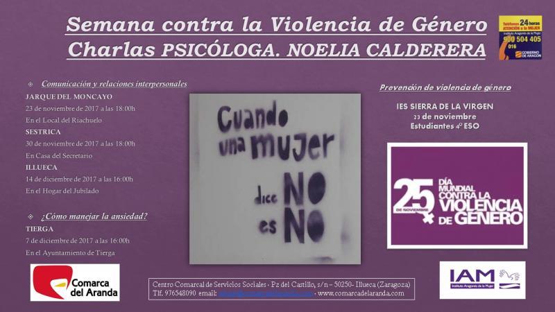 Semana contra la Violencia de Género. Centro Comarcal de Servicios Sociales