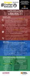 Infografía novedades laborales y de prestaciones en Aragón COVID-19