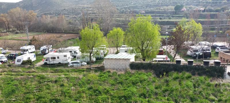 Imagen camping Trasobares durante el pasado puente.