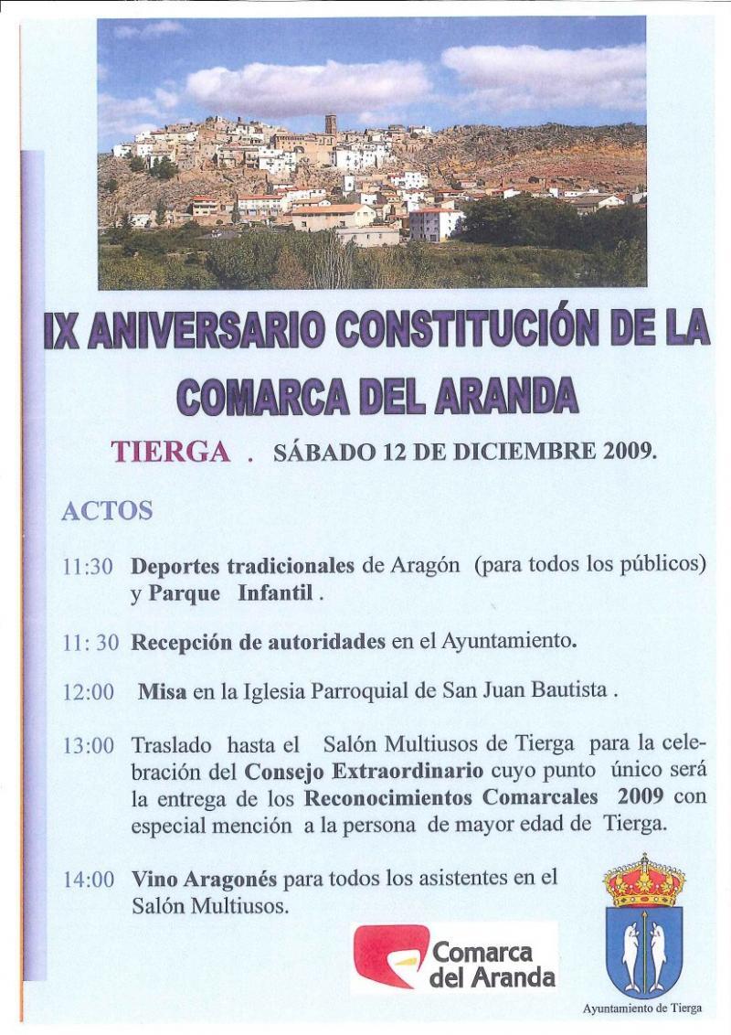 IX Aniversario de la Comarca del Aranda